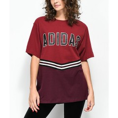 adidas Adibreak Burgundy Collegiate T-Shirt Women's Short Sleeve Wholesale Sales aySzrd8OP9X7vQ