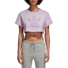 Adidas - Loose Cropped Cotton Tee Women's T-Shirts Short Sleeve Cheap Online imb7IZIFg0T5ba