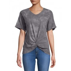 C&C California - Knotted Front-Tie Tops Women's T-Shirts Short Sleeve Online Discount xPzQLDIxnssnfa