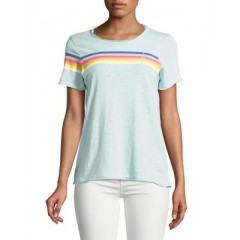 Chaser - Striped Short-Sleeve Tee Women's T-Shirts Short Sleeve ZV047yC2rmFHUY