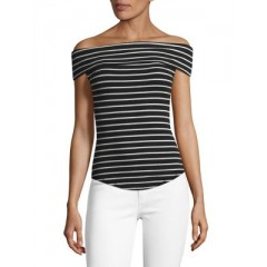 Free People - Striped Off-the-Shoulder Top Women's T-Shirts Short Sleeve 0gB97BbnuMwQR2