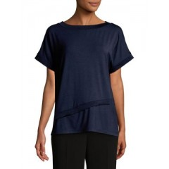 JONES NEW YORK - Short Sleeve Asymmetrical Tee Women's T-Shirts Short Sleeve 9jOkOWyIHV2nLg