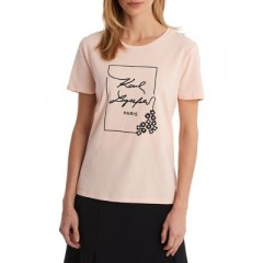 Karl Lagerfeld Paris - Short Sleeve Graphic Tee Women's T-Shirts Short Sleeve 1a726ctpVcPWZY