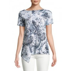 Lord & Taylor - Asymmetric Front Top Women's T-Shirts Short Sleeve Online Wholesale VdU5wU9tEo1XCE