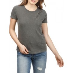 Lucky Brand - Cotton Lace Up Tee Women's T-Shirts Short Sleeve Discount Sales odbzxncqsSNLTH