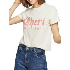 Miss Selfridge - Cheri Sweetheart Cotton Tee Women's T-Shirts Short Sleeve Fashion Online M1oO4dEeRqiJCT
