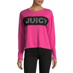 Juicy Couture - Embellished Cotton Tee Women's T-Shirts Long Sleeve 5I5lmubhu9zDZh