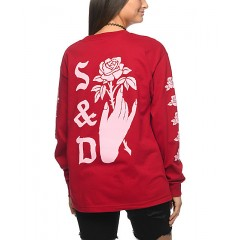 Swallows & Daggers Hand Picked Roses Red Long Sleeve T-Shirt Women's Long Sleeve Yhpo44CrHv3Nob
