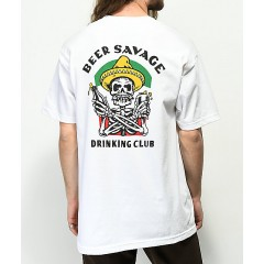 Beer Savage Borracho White T-Shirt Men's Graphic Tee Fashion Online phbLUfgrcdke1m