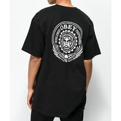 Obey Skull & Eyes Black & White T-Shirt Men's Graphic Tee Online Discount 2RbBgugtiGzVWF