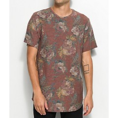 Rustic Dime Rose Floral Camo Elongated T-Shirt Men's Graphic Tee Cheap Online v3BHh66xTfd81y