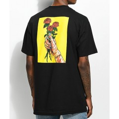Salem7 Roses Black T-Shirt Men's Graphic Tee IrmXxV0lb3Ywcr