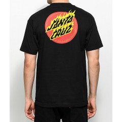 Santa Cruz Flaming Dot Black T-Shirt Men's Graphic Tee Online Wholesale 3H0ylATE0acDCL