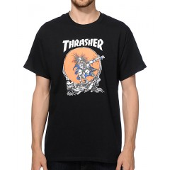 Thrasher Skate Outlaw T-Shirt Men's Graphic Tee Z1WwI2olJh1OT1