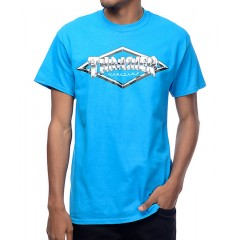 Trasher Diamond Emblem Sapphire T-Shirt Men's Graphic Tee F4P5fBIFYLGuFl