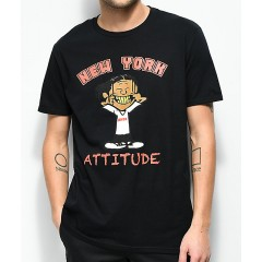 A$AP Mob Attitude Black T-Shirt Men's Short Sleeve Cheap Sales u2kt9A8yWtmKXP