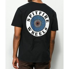 Spitfire OG Circle Black T-Shirt Men's Short Sleeve vmWK7toonnCUeK