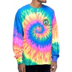 Teenage Madness Multi Tie Dye Long Sleeve T-Shirt Men's Long Sleeve Cheap Online aNnP1jtoXYof0s