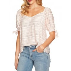Cece - Striped Tie Sleeve Blouse Women's Blouses|||Short Sleeve Online Wholesale Dj2NHoGVVUud35
