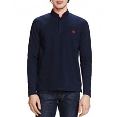The Kooples New Shiny Piqué Long Sleeve Classic Fit Polo Men's Polos Fashion Online QnCcq3WX1ZWA99
