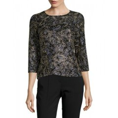 Alex Evenings - Three-Quarter Sleeve Top Women's Blouses 3/4 Sleeve ilPkAR9r1jwOYw