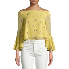 Design Lab Lord & Taylor - Floral Off-the-Shoulder Top Women's Blouses 3/4 Sleeve cIgmA7Hg3G01vm