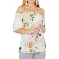 Dorothy Perkins - Floral Tied-Keyhole Off-Shoulder Top Women's Blouses 3/4 Sleeve hqfT4M0b3dXjkT