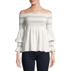 Highline Collective - Off-the-Shoulder Cotton Top Women's Blouses 3/4 Sleeve bqEoAB8Wl7JtTv
