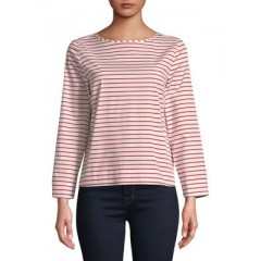 Marella - Striped Boxy Top Women's Blouses 3/4 Sleeve Online Wholesale ng2t40fcMZVZkJ