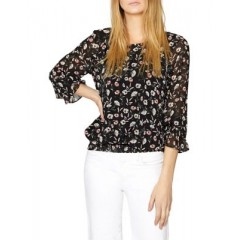 Sanctuary - Dahlia Smocking Blouse Women's Blouses 3/4 Sleeve T3sc5wSJJnOvL6
