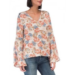 B Collection by Bobeau - Jamyee Printed Blouse Women's Blouses Long Sleeve vymWWp5RyjCMu7