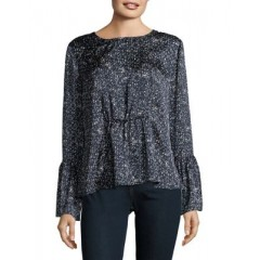 B Collection by Bobeau - Lee Flare Sleeve Blouse Women's Blouses Long Sleeve Wholesale Sales JqcOMHqrlQKWHD