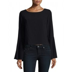 Design Lab Lord & Taylor - Bell Sleeve Top Women's Blouses Long Sleeve JOUHkEotMyZUup