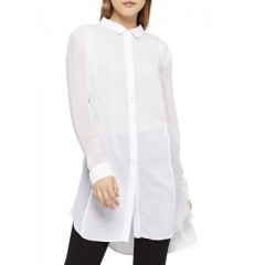 BCBGeneration - Button-Down Overlap Shirt Dress Women's Shirt Online Sale 4ygs8JRnn9LDjn