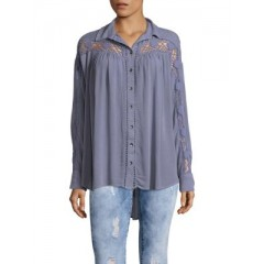Free People - Crochet Button-Down Shirt Women's Shirt mkFOjjR8vN8QJe