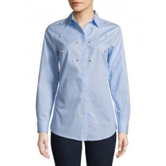 JONES NEW YORK - Embellished Button-Front Top Women's Shirt Cheap Online OxRPKmE1lvLa81