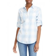 Lauren Ralph Lauren - Plaid Cotton Button-Down Shirt Women's Shirt jqLF3MzJUYs7Xz