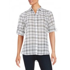 Lord & Taylor - Cotton Plaid Sportshirt Women's Shirt lBXbeVByq3eOzl