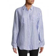 Lord & Taylor - Stripe Linen Button-Down Shirt Women's Shirt Online Wholesale UF0NakthamKQ7r