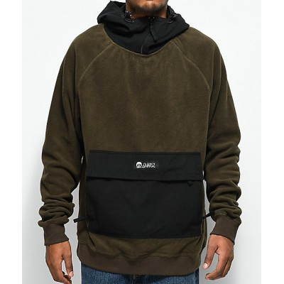 Gnarly Polar Olive & Black Hoodie Men's Sweatshirts & Hoodies Online Sale S00VOFK1mFFHCc