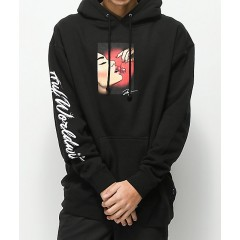 HUF Roxanne Black Hoodie Men's Sweatshirts & Hoodies Fashion Online maluiUNutJKTMb