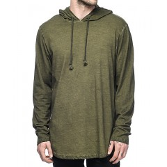 Ninth Hall Surface Olive Green Slub Hoodie Men's Sweatshirts & Hoodies Online Wholesale mBv78xUb956mjx