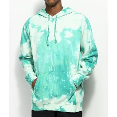 Obey Jumble Lo-Fi Teal Bleach Washed Hoodie Men's Sweatshirts & Hoodies 35DLiPNfHnT9uu