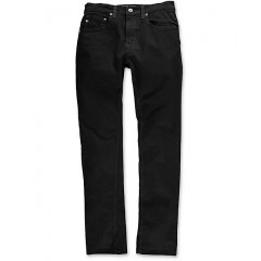 Free World Messenger Pure Black Stretch Skinny Jeans Men's Jeans avzTOtAFjEkMJA