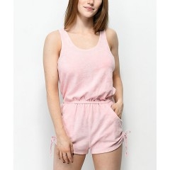 Empyre Esme Pink French Terry Romper Women's Dresses CDuXyh3ALDXC1d