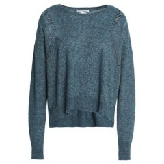AUTUMN CASHMERE Marled cashmere and silk-blend sweater Women's Sweaters Discount Sales 8QwgANOzMOnHx5