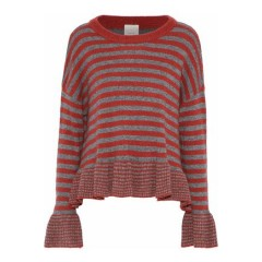 CINQ À SEPT Seren striped wool-blend sweater Women's Sweaters Cheap Online cNAXRrhkp76A16