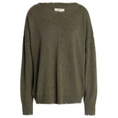 CURRENT/ELLIOTT Distressed wool and cashmere-blend sweater Women's Sweaters Cheap Online eO6LFSVaGFxgnI