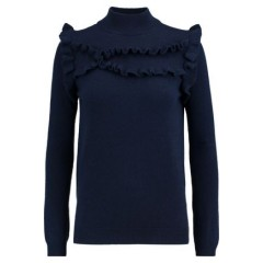 MADELEINE THOMPSON Ithaca ruffle-trimmed wool and cashmere-blend turtleneck sweater Women's Sweaters zmPSwB5ASa712Y