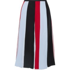 GABRIELA HEARST Pleated color-block silk-georgette skirt Women's Skirts Online Wholesale yv6sl1i35dlGz2